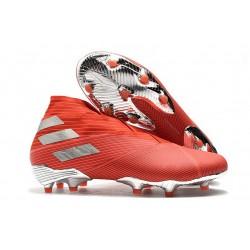 adidas Nemeziz 19+ FG Boot Solar Red Silver