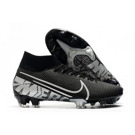 Nike Mercurial Superfly VII Elite SE FG Black Metallic Cool Grey