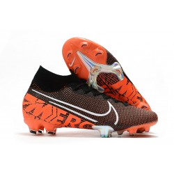 Nike Mercurial Superfly VII Elite SE FG Black Hyper Crimson