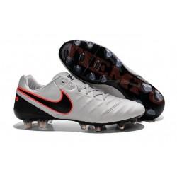 Nike Men's Tiempo Legend VI FG K-leather Soccer Boots Pure Platinum & Metallic Silver