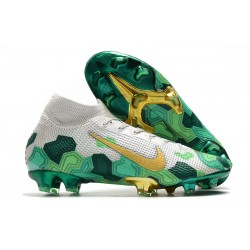 Nike Mercurial Superfly VII Elite SE FG x Mbappé Vast Grey Gold Electro Green