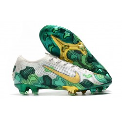 Mbappe Nike Mercurial Vapor XIII 360 Elite FG Grey Green Gold