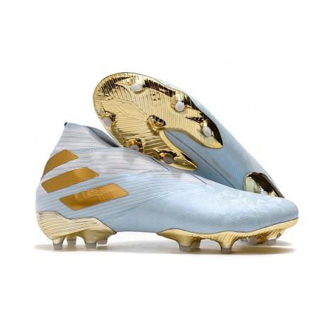 Top adidas Nemeziz 19+ FG Soccer Cleats Bold Aqua Gold