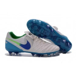 Nike Men's Tiempo Legend VI FG K-leather Soccer Boots White Blue