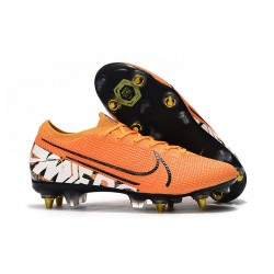 Nike Mercurial Vapor 13 Elite SG Pro Anti-Clog Orange White Black