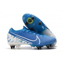 Nike Mercurial Vapor 13 Elite SG Pro Anti-Clog New Lights Blue White