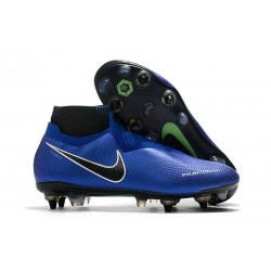 Nike Phantom Vision Elite DF SG-PRO Anti-Clog Racer Blue Black Silver