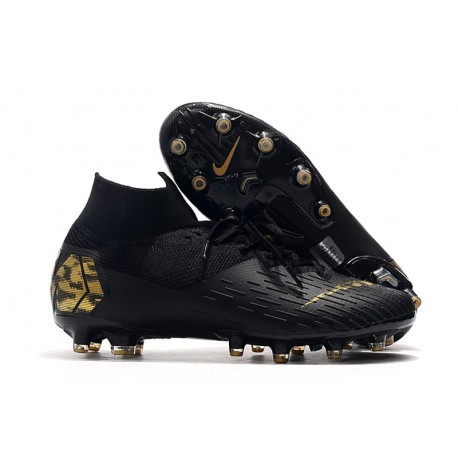 Nike Mercurial Superfly VII Elite AG-PRO Artificial-Grass Black Gold