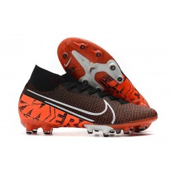 Nike Mercurial Superfly VII Elite AG-PRO Artificial-Grass Black White Hyper Crimson