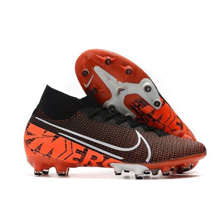 Nike Mercurial Superfly VII Elite AG-PRO Black White Hyper Crimson