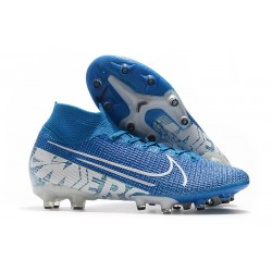 Nike Mercurial Superfly VII Elite AG-PRO Artificial-Grass New Lights Blue White