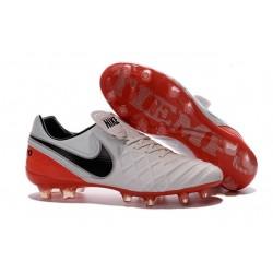 Nike Men's Tiempo Legend VI FG K-leather Soccer Boots White Red Black