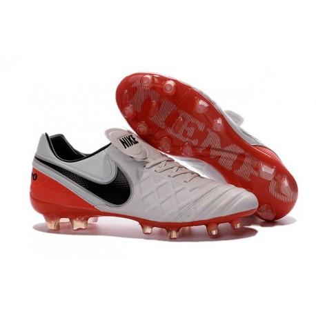 43a435cee Nike Men s Tiempo Legend VI FG K-leather Soccer Boots White Red Black