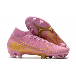 Nike Mercurial Superfly VII Elite SE FG Soccer Boot Pink Golden