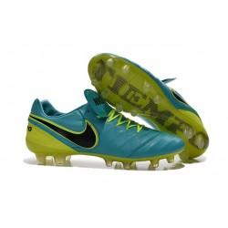 Nike Men's Tiempo Legend VI FG K-leather Soccer Boots Blue Black