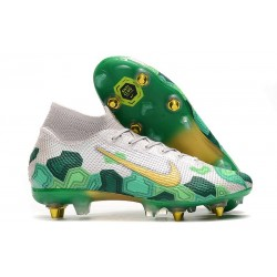Nike Mercurial Superfly VII Elite SG Pro Mbappé Vast Grey Gold Electro Green