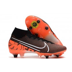Nike Mercurial Superfly VII Elite SG Pro Black Orange White