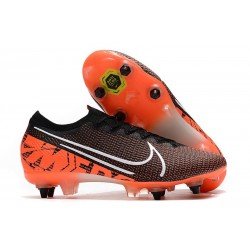 Nike Mercurial Vapor 13 Elite SG Pro Anti-Clog Black White Crimson