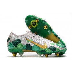 Nike Mercurial Vapor 13 Elite SG Pro Anti-Clog Mbappé Vast Grey Gold Electro Green