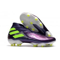 Top adidas Nemeziz 19+ FG Soccer Cleats Purple Green