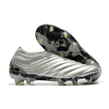 adidas Copa 20+ K-leather Soccer Cleat - Silver Solar Yellow