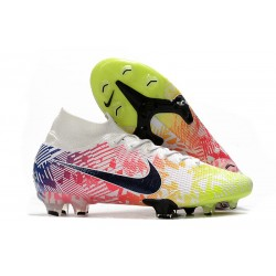 Nike Mercurial Superfly 7 Elite Dynamic Fit FG Neymar White Black Blue Volt