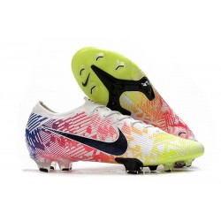 New Nike Mercurial Vapor 13 Elite FG ACC Neymar White Black Blue Volt
