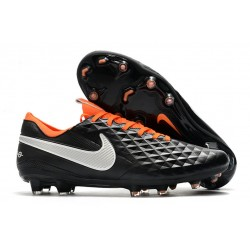 Soccer Cleats Nike Tiempo Legend VIII FG - Black White Orange