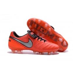 Nike Men's Tiempo Legend VI FG K-leather Soccer Boots Crimson Silver