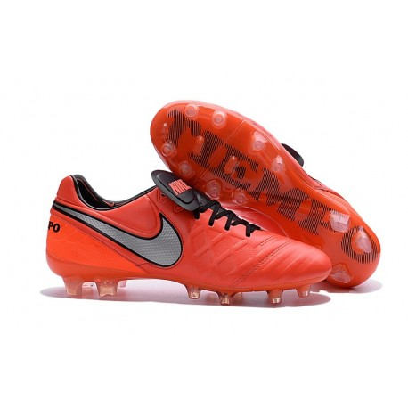 Nike Men's Tiempo Legend VI FG K-leather Soccer Boots Crimson Silver