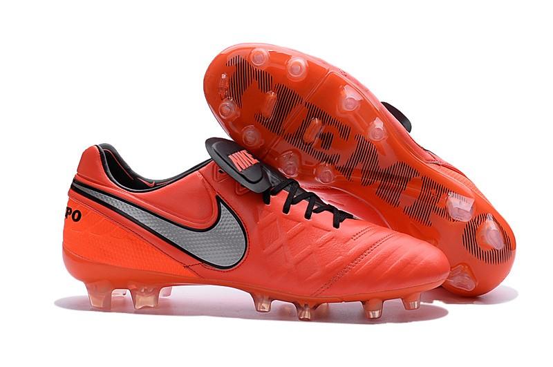29df34b1d47e Nike Men's Tiempo Legend VI FG K-leather Soccer Boots Crimson Silver