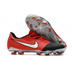 Nike Phantom Venom Elite FG Shoes -Laser Crimson Metallic Silver Black