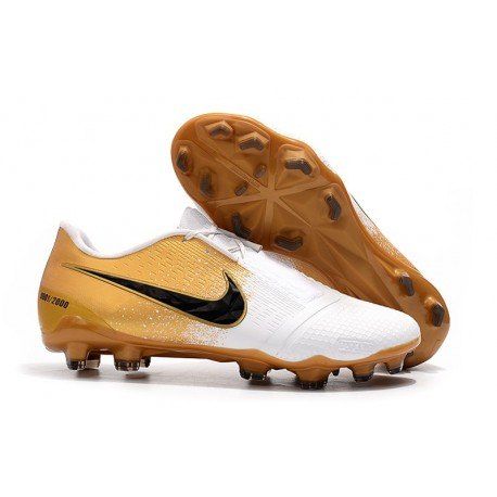 Nike Phantom Venom Elite FG Shoes -White Gold Black