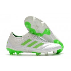 adidas Copa 19.1 FG News Soccer Shoes White Solar Lime
