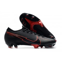 New Nike Mercurial Vapor 13 Elite FG ACC Black Red