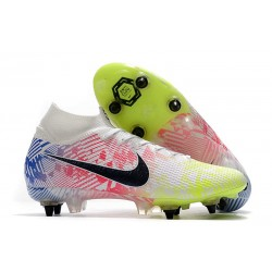 Nike Mercurial Superfly VII Elite SG Pro Neymar White Black Blue Volt