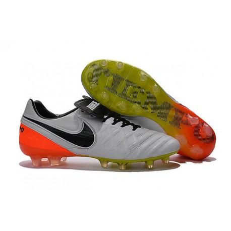 buy popular d5ecd 389ed New 2016 Nike Tiempo Legend 6 FG Leather Football Cleats White Black Orange