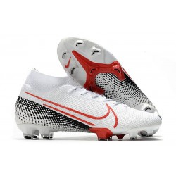 Nike Mercurial Superfly 7 Elite Dynamic Fit FG LAB2 - White Laser Crimson Black