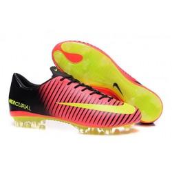New 2016 Nike Mercurial Vapor XI FG ACC Soccer Boots Total Crimson/Volt/Black