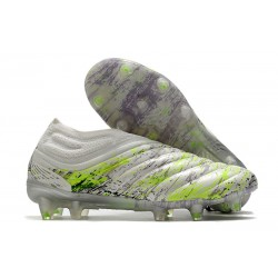 adidas Copa 20+ K-leather FG Soccer Cleat - White Core Black Signal Green