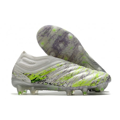 adidas Copa 20+ K-leather FG - White Core Black Signal Green