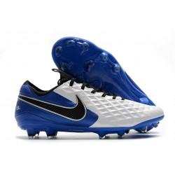 Nike Tiempo Legend 8 Elite FG ACC Boot White Royal Blue Black