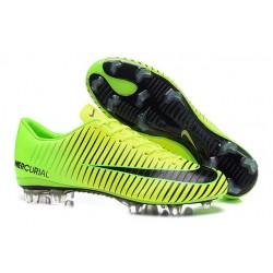 New 2016 Nike Mercurial Vapor XI FG ACC Soccer Boots Green Black
