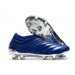 adidas Copa 20+ K-leather FG Soccer Cleat -Team Royal Blue Silver Metallic