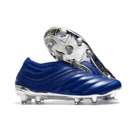 adidas Copa 20+ K-leather FG Cleat -Team Royal Blue Silver Metallic