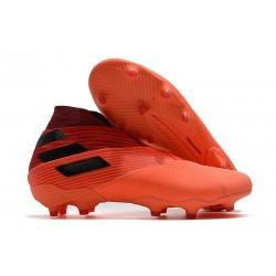 adidas Nemeziz 19+ FG Soccer Cleats Signal Coral Core Black Glory Red