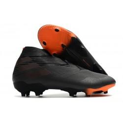 Top adidas Nemeziz 19+ FG Soccer Cleats Core Black Signal Orange