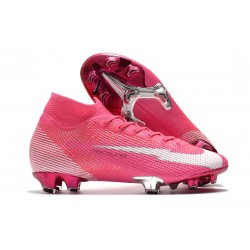 Nike Mercurial Superfly VII Elite FG X Mbappe Pink Blast White Black