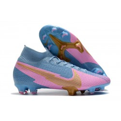 Nike Mercurial Superfly VII Elite Firm Ground Blue Pink Gold