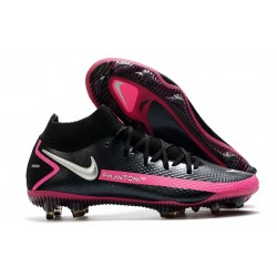 Nike Phantom GT Elite Dynamic Fit FG - Black Pink Blast Metallic Silver